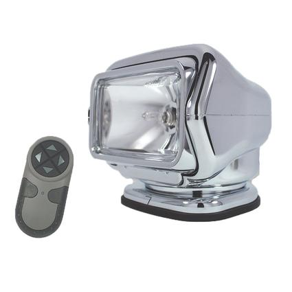 GoLight Stryker Permanent Mount Model with Wireless Hand-Held Remote Chrome