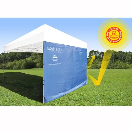 ezShade Canopy Sun Shield - 10' Straight Leg