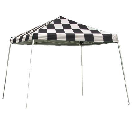 12X12 Sports Series Slant Leg Canopy - Checkered Flag