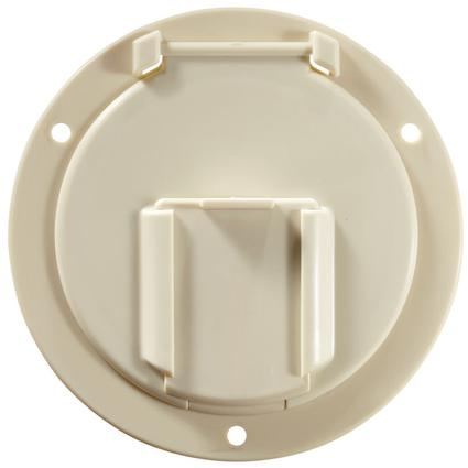 Electrical Cable Hatch – Round – Colonial White