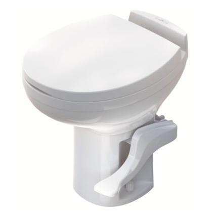 Aqua-Magic Residence High Profile Toilet with Water Saver Spray - White