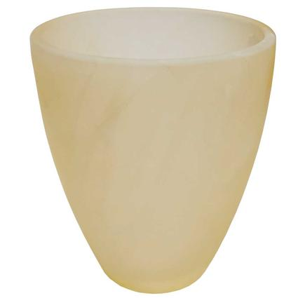 Tumbler Style Blown Glass Globe - Bisque Alabaster