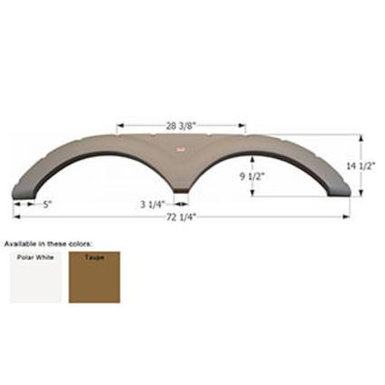 Keystone Tandem Fender Skirt FS1705 - Polar White