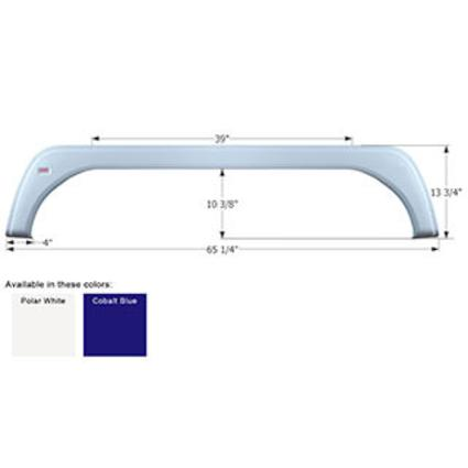 KZ Tandem Fender Skirt FS1724 - Polar White