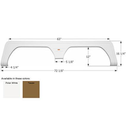 Keystone Tandem Fender Skirt FS1765 - Polar White