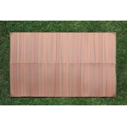 Orange Stripe Patio Mat, 6' x 9'