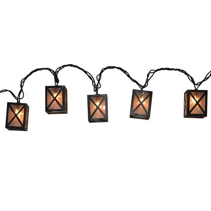 10 Bulb Star Lantern Lights, 7.8'
