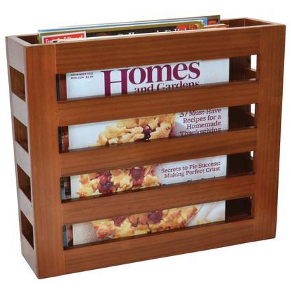 Modern Wood Magazine Rack - Walnut