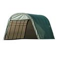 Round Style Shelter 13 x 20 x 10 Green Cover