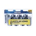 Alkaline D Battery, 8 Pack