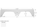 Glendale 5th Wheel Travel Trailer Fender Skirt FS1897 - Polar White