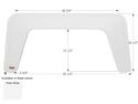 Sunland Single Axle Fender Skirt FS1912 - Polar White