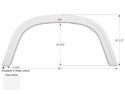 Four Winds Single Axle Fender Skirt FS1930 - Polar White