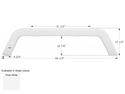 R-Vision 5th Wheel Travel Trailer Fender Skirt FS1935 - Polar White