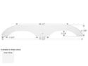 Sun Valley Tandem Axle Fender Skirt FS1966 - Polar White