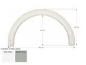 Coachmen Concord Single Axle Fender Skirt FS1982 - Polar White