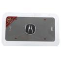 Chrome Acura License Plate
