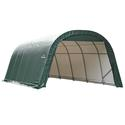 Round Style Shelter 12 x 24 x 8 Green Cover
