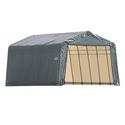 Peak Style Shelter 13 x 28 x 10 Gray Cover