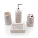 4 Piece Ceramic Bath Set, Buttons