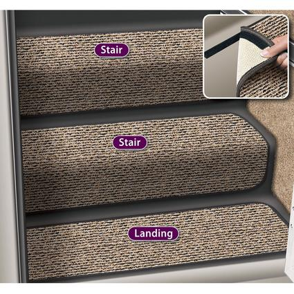 Decorian 10 Inch Step Hugger Landing Rug - Peppercorn