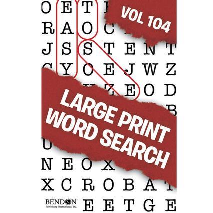 Large Print Word Search Digest Vol. 101 & 102 or Vol. 103 & 104