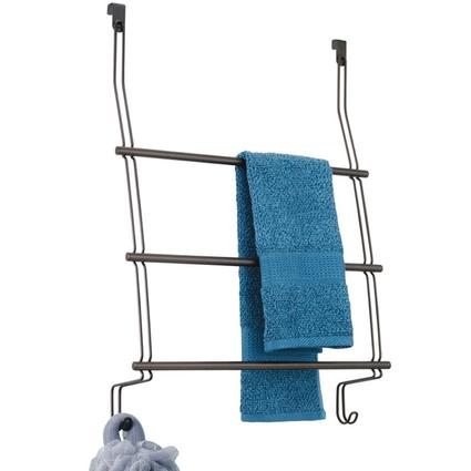 Over Door 3 Bar Towel Rack - Bronze