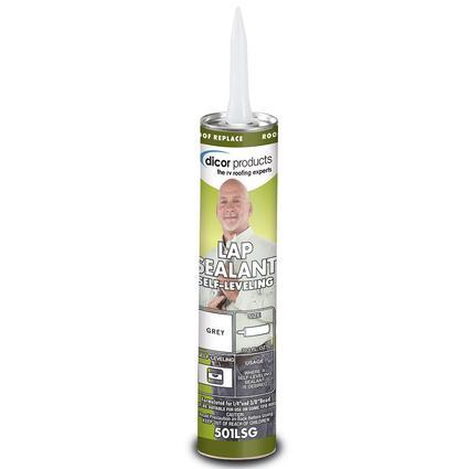 Self-Leveling Lap Sealant, 10.3 oz. tube - Gray