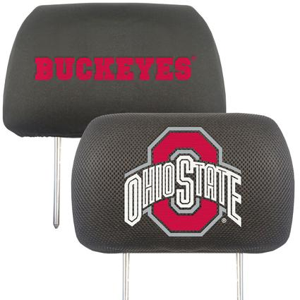 Fanmats Head Rest Covers, Set of 2 - Ohio State