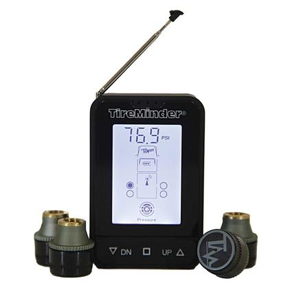 TireMinder Wireless Tire Pressure Monitoring System with Booster - 4 Wheel TM66-M4 Kit