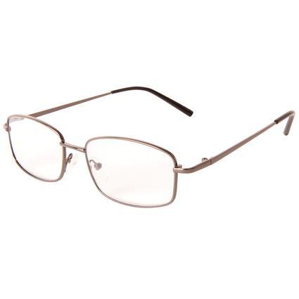 Men's Silver Reading Glasses, +225