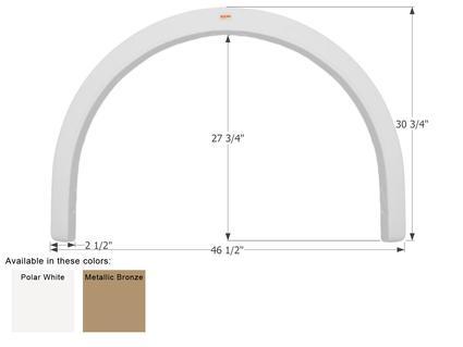 Fleetwood Bounder Single Axle Fender Skirt FS1954 - Polar White