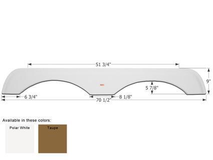 Gulf Stream 5th Wheel Travel Trailer Fender Skirt FS1956 - Polar White