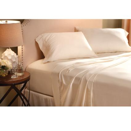 Sateen Sheet Set - King, Ivory