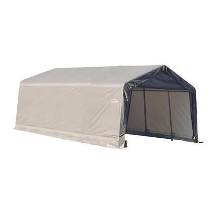 Peak Style Shelter 12 x 20 x 8 Gray Cover