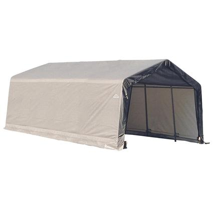 Peak Style Shelter 13 x 20 x 10 Gray Cover