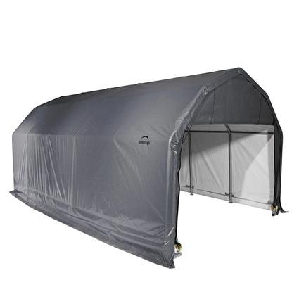 Barn Shelter 12 x 24 x 9 Gray Cover