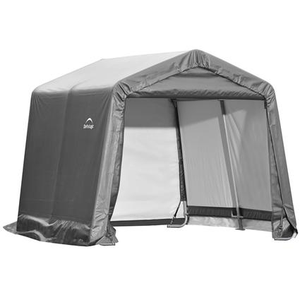Peak Style Storage Shed 10 10 8 Gray Cover