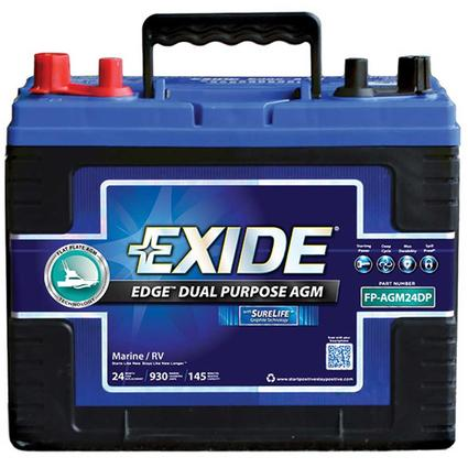 Exide AGM Battery - Group 24DP - Automotive