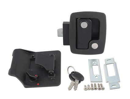 Travel Trailer Replacement Door Latches, Black Finish