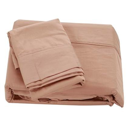 Queen 300 Thread Count Cotton Sheet Set, Taupe