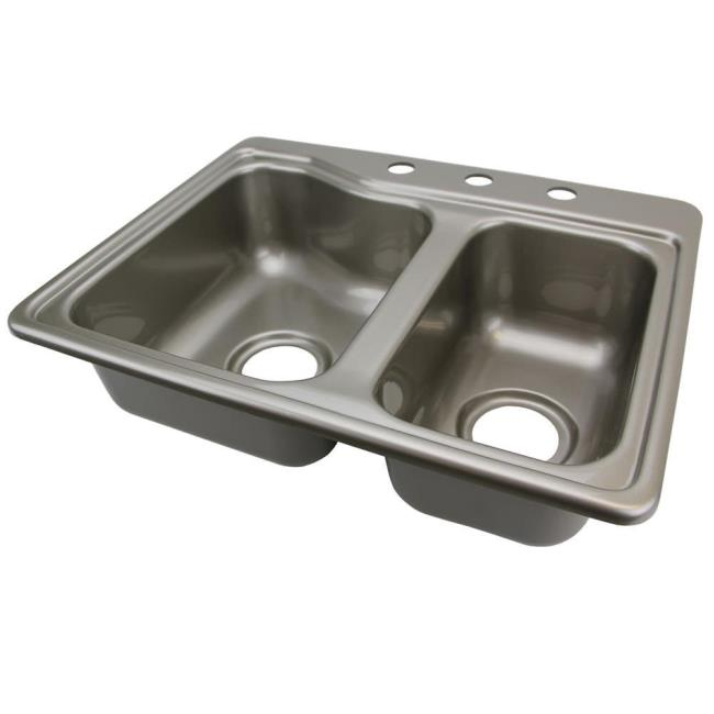 Double Kitchen Sink - Stainless Steel Color - Lippert Components Inc ...