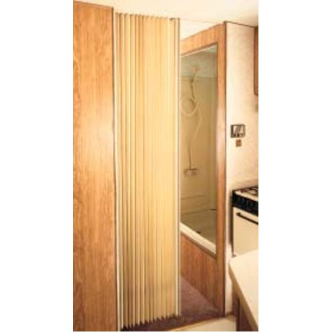 Pleated Bi Fold Door Beige Irvine Shade Door 3675fbh Drapery