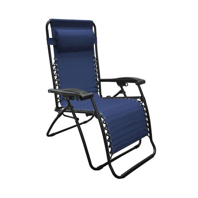 Genial Image Oversized Zero Gravity Recliner, Blue. To Enlarge The Image, Click Or  Press .