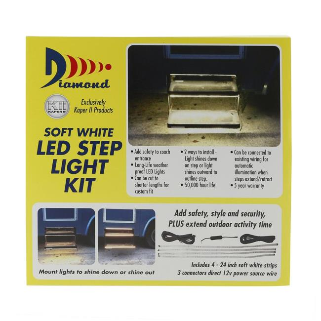 Warm white led strip light kit for rv steps diamond 52695 patio image warm white led strip light kit for rv steps to enlarge the image mozeypictures Gallery