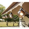 6 Bronze Globe Lights with 30 Cord