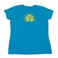 Womens Happy Camper Tee, Sapphire Large