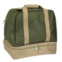 Green Weekender Bag with Shoe Pocket