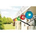 6 Multicolor Globe Lights with 30' Cord