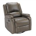 Swivel Glider Recliner with Remote Massage, Gunmetal